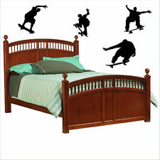 Skateboarding Vinyl Wall Decal Sticky Decor Letters Sports Stickers Art Graphic