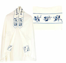 "Wool, Blue Pomegranate Design Tallit,Talit,Tallis,From ISRAEL 68""L x48"" W *"