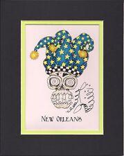 SKULL W// MARIJUANA BANDANA SIGNED GICLEE new orleans artist Jamie Hayes