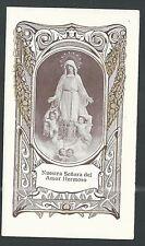 estampa antigua de la Virgen del Amor Hermoso santino holy card image pieuse