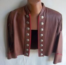 RIVER CROSSING - Women's Custom Mahogany Short leather jacket - Pit to Pit 17""