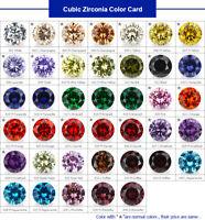 1000pcs 0.8~20mm Round AAAAA loose cz stone cubic zirconia gemstone 120 colors