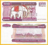Myanmar 5000 Kyats p-81 2009 UNC Banknote