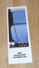 BMW Prezzo & SPEC brochure guida 1988 3 5 6 7 SERIE E30 325I Cabrio M635CSI
