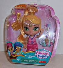 "FISHER PRICE SHIMMER & SHINE ""GENIE DISGUISE LEAH"" 6"" DOLL Brush & Stickers NEW!"