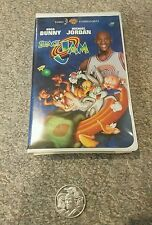 SPACE JAM  VHS TAPE WITH COIN & VARIOUS SPACE JAM MOVIE FIGURES
