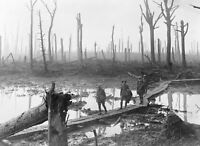 Battle of Passchendaele WW1 1917 CANVAS WALL ART PICTURE 20X30 INCHES