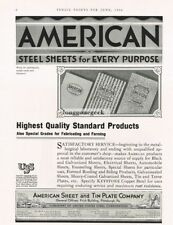 1934 American Sheet and Tin Plate Co. Galvanized Steel sheets Vtg Print Ad