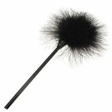 Feather duster Tickle Sex Bondage Erotic Games Naughty Fluffy black Tickler N3
