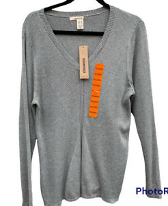 DKNY Jeans Women's Gray Waffle Knit Sweater Long Sleeve Size XXL. New With Tag
