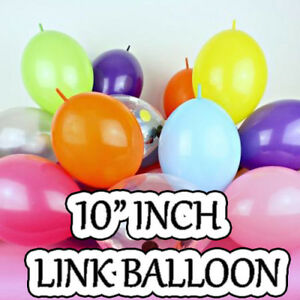 """50 x 10"""" Quick Link Latex Balloons Baloon Various Colour for Birthday Wedding"""