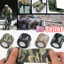 4 Roll Stealth Webbing Tape Army Camo Wrap Rifle Gun Shooting Hunting Camouflage