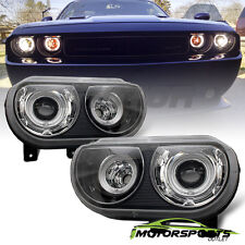 [Dual CCFL Halo] 2008-2014 Dodge Challenger HID Type Projector Headlights Pair