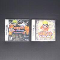Nintendo DS Naruto Ninja Destiny 2 (Sealed) + Council 3 Game Cartridge Case Book