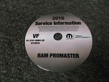 2016 Dodge Ram Promaster Cargo Van Service Manual CD 1500 2500 3500 Diesel Gas