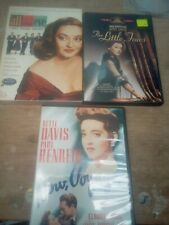3 Bette Davis Dvd Movies Classics All About Eve + Little Foxes + Now Voyager