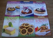 TORTE MIX,TORTE FARCITE,TORTE LIEVITATE,TORTE SALATE,BISCOTT e CUPCAKES 6 libri