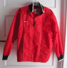 Nike Nylon Red Swoosh Piping Track Windbreaker Running Jacket Kids Boys Large 14