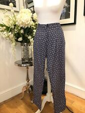 JACK WILLS SZ14 Navy/White Cotton Trouser BUY NOW £7.00