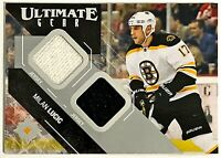 2014-15 UD Ultimate Collection Gear Milan Lucic GU Dual Jersey Bruins Flames