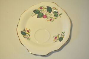 FUCHSIA PLATE REPLACEMENT CHINA TAYLOR & KENT ENGLAND ONE KENT CHINA NO CUP