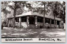 Steelville MO~Cobblestone Resort~Balustrades @ Veranda~We're Rocking~1961 RPPC