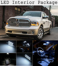 11X Xenon White SMD LED Interior Package + Tag Light For 02-2016 Dodge Ram KP