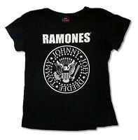 The Ramones Seal Jumbo Girls Juniors Black T Shirt New Official Punk