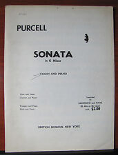 Sonata in G Minor by Henry Purcell - sheet music for Violin and Piano
