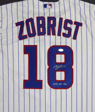 CUBS BEN ZOBRIST AUTOGRAPHED SIGNED MAJESTIC JERSEY 2016 ALL STAR BECKETT 121176