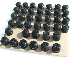 window shutter cabinet knobs , ebonized beehive