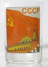 SHOT GLASS CCCP USSR Kremlin Red flag Handmade for Russian vodka 55ml Limited ed