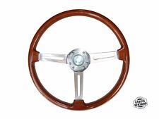 Original Ellébore Volant Alfa Romeo 105/115 Spider Gt Volant en Bois 390mm + Hub