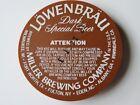 Beer Keg Cap: Lowenbrau Dark Special Beer - Miller Brewing Company - NY Brewery