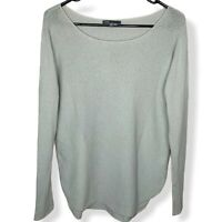 VINCE Women's 100% Cashmere Rib Knit Dolman Pullover Sweater Size XS Grey