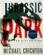 Jurassic Park Book by Michael Crichton The Gift Edition Signed Autographed 1993