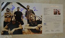 """Foo Fighters (All 5) Signed 11x14 Photo """"Full Letter"""" JSA LOA #Y45743 Dave Grohl"""