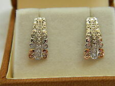 Clogau Silver & Welsh Gold Am Byth Tapered Diamond Earrings RRP £219.00