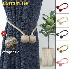 Morden Magnetic Curtain Hooks Rope Buckle Tie Backs Holdbacks Home Decor.