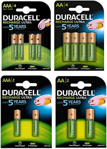 Duracell Recharge Ultra Akkus Accus AAA Micro 900 mAh und AA Mignon 2500 mAh
