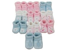 Brand new baby boys girls & unisex knitted booties. Various designs. 0-3 months.