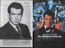 JAMES BOND TOMORROW NEVER DIES GERMAN FILM PROGRAM 1997 20 PAGES