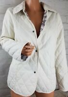 IZOD Women L Quilted Jacket Plaid Lined Lightweight Coat