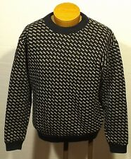 vintage men's LL BEAN Norwegian Birdseye sweater fisherman size SMALL (36 Short)