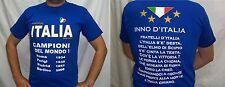 MAGLIA ITALIA INNO NAZIONALE TAGLIA M CAMPIONI DEL MONDO BRASILE 2014 MEDIA GIFT