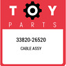 33820-26520 Toyota Cable assy 3382026520, New Genuine OEM Part