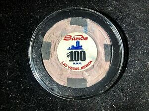 """$100""""SANDS""""HNO DIG CHIP,THESE CHIPS WERE BURIED IN THE GROUND"""