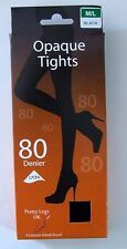 Ladies/Girls sze  medium/large 80 Denier opaque pantyhose school tights Black