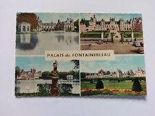 Palais de Fontainebleau France Vintage colour Postcard c1960s multi view