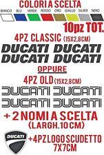 Adesivi moto Ducati classic e old Kit 4pz +2pz nomi a scelta +4pz logo scudetto